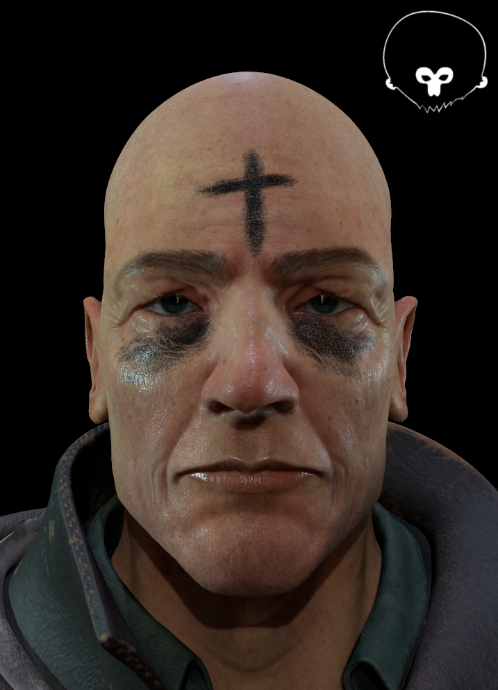 Face detail and skin material